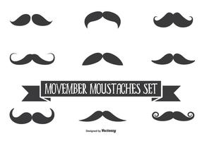 Movember Vector Mustache Set