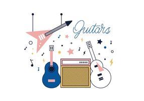 Vecteur gratuit des guitares