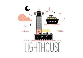 Freier Leuchtturm-Vektor
