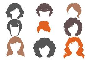 Vetor de cortes de cabelo feminino grátis