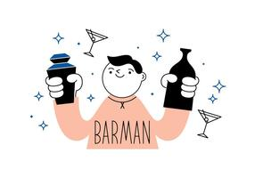 Vector barman libre