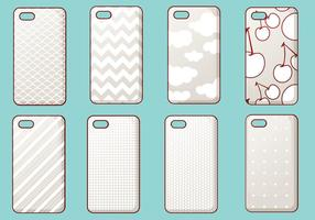 Trendy iPhone Fall Vektor Set