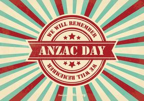 Retro Stil Anzac Tag Illustration