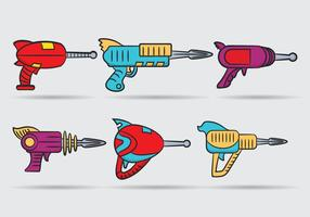 Vecteur de pistolet laser