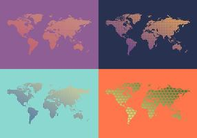 Gratis World Map Patterns Vector