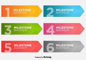 Milestone Banners Vector Template