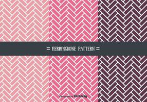 Girly Herringbone patrón de vectores
