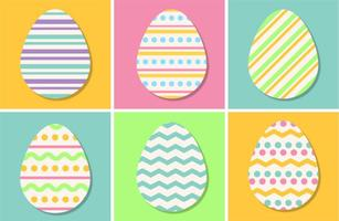 Pastel Color Vector Easter Eggs