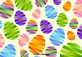 Doodle easter eggs vector background