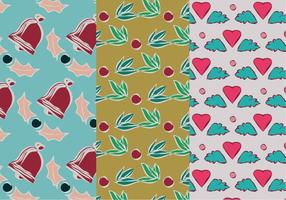 Set of Christmas Pattern Illustration