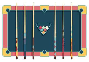 Pool sticks vector