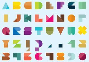 Type de style de style Bauhaus géométrique