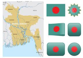 Carte vecteur bangladesh