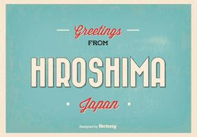 Retro hiroshima japan hälsning illustration