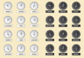 International Hour Clock Vectors