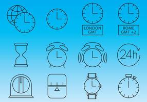 Horloges En Tijd Pictogram Vectors
