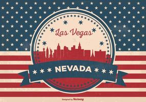 Retro Las Vegas Horizon Illustratie