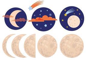 Vetores da lua grátis
