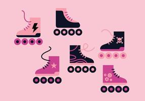 Rollerblad Vector Set