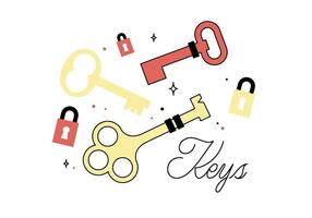 Gratis nycklar vektor