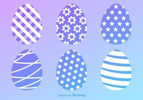 Ícones de vetor de ovos de páscoa