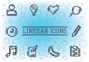 Libre de iconos vectoriales lineales