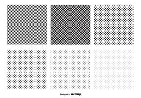Transparent Polka Dot Vector Patterns