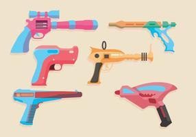 Vectores del arma del laser