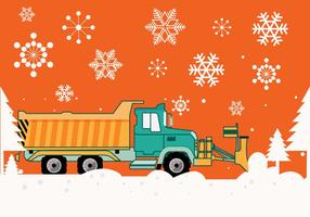 Snow Plow Vector