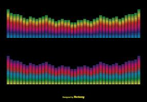 Colorful Vector Sound Bars Illustration