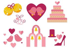 vettore di campane di nozze gratis