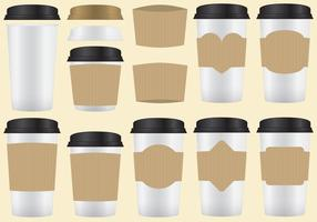 Manches de café vecteur
