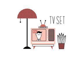 Gratis Tv Set Vector
