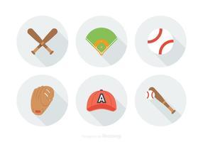 Libre de vectores de béisbol iconos
