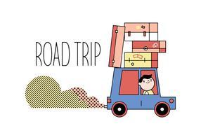 Vector libre de viaje por carretera