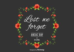 Fundo Anzac Day Vector gratuito