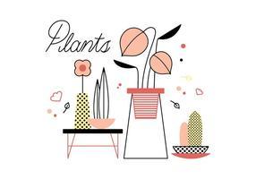 Vecteur de plantes libres