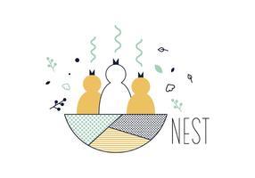 Vecteur de nid gratuit