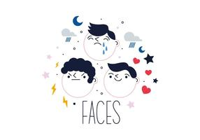 Gratis Faces Vector
