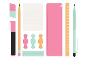 Vector School Supplies
