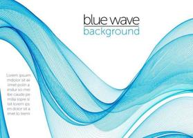 Blue Abstract Swish Wave Vector