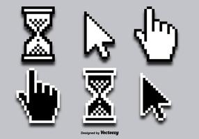 Icônes de vecteur curseur de clic de souris