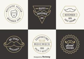 Gratis Movember Vector Badges