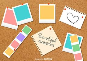 Cardboard Photo Collage Vector Background
