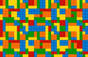 Multicolor Building Blocks Vector Pattern