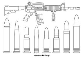 AR15 Vector Lineal Riffles