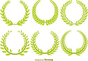 Olive Wreath Vector Set