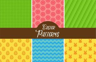 Padrões bonitos do vetor de Easter