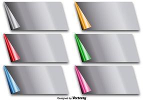 Vector metálico pliegues de esquina de papel