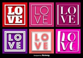 Vecteurs de fond de mots d'amour